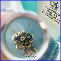 Victorian Fede flower ring in 15k gold Sentimental Friendship English Ring