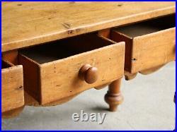 Victorian Pine Prep Table, English 19th Century