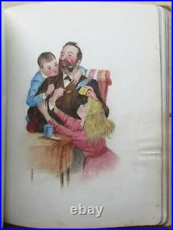 Victorian Sketchbook -various minor artists Mary Shelly homemade cloth binding