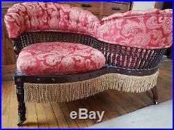 Victorian Tete-a Tete/ courting bench/ gossip chair/Hunzinger