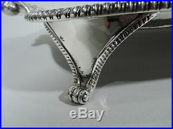 Victorian Tray Large Antique Footed Salver English Sterling Silver 1898