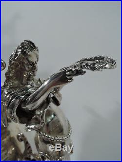 Victorian Trophy Antique Horse Equestrian Cup English Sterling Silver 1883