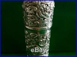 William Comyns Victorian Antique English Sterling Silver Sugar Caster Shaker